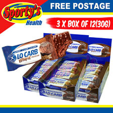 Aussie Bodies Lo Carb Whipd Protein Bar Chocolate - 3 boxes of 12