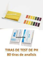 80 TIRAS de PH ANALISIS MEDIDOR TEST ACUARIO Estanque Grow Hydroponia piscina