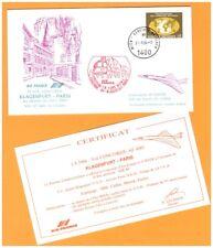 AUTRICHE / 1° VOL Air France AVION CONCORDE Ligne KLAGENFURT-PARIS le 31.8.1984
