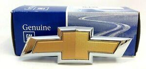 Chevrolet Malibu Cruze Bowtie front bumper grille gold Emblem new OEM 23125928
