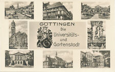 alte AK Göttingen vor 1945, Die Universitäts- und Gartenstadt in 8 Ansichten