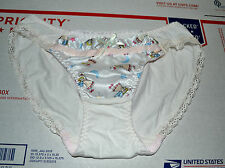 NIB Girl's Lali Taa Angel Cotton Silk Lace Brief Panty Underwear