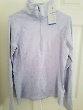Womens UNDER ARMOUR COLD GEAR FITTED 1/2 ZIP JACKET SHIRT Lavender/Gray Size L