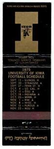 UNIVERSITY of IOWA ~ 1975 Matchbook Football & Basketball Schedule ~ FREE SHIP