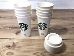 Starbucks White Reusable Grande Travel Coffee Cup 16oz X 25 Cup Job Lot BNWT