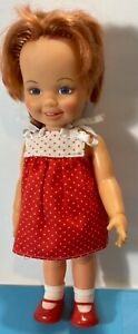 Vintage 1972 Ideal Doll Cinnamon with Growing Hair & original Shoes Red hair