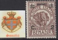 ITALY SOMALIA  Elephant  Sassone n. 73  cv 110$ MNH**