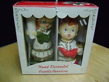 Star Creation Vintage Boy And Girl Carolers Handpainted 3195