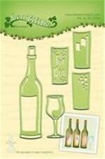 Lea'bilities die cut gaufrer craft pochoir bouteille de vin en 5 meurt 45.2304