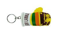 Keychain Mini boxing gloves key chain ring flag key ring cute SRI LANKA