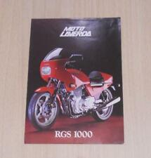LAVERDA RGS 1000 Motorcycle Specification Sheet ITALIAN TEXT c1983
