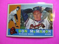 1960 TOPPS baseball Set Break #189 Don McMahon Braves, NmMt High Grade