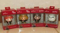 Hallmark Harry Potter, Hermione, Ron Weasley, Hedwig Red Box Ornament Set
