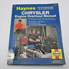 Chrysler Engine Overhaul, V8 & 3.9L V6 (Haynes Repair Manuals) by Haynes