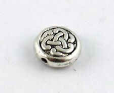 60PCS Tibetan silver celtic knot flat beads T8934
