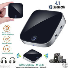 2 in 1 Wireless Bluetooth4.1 Transmitter and Receiver 3.5mm Stereo Audio Adapter