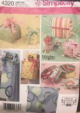 Simplicity 4320 Fabric Gift Boxes Pattern Shirley Botsford Wrights  uncut