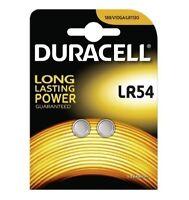 Duracell LR54 1.5V Alkaline Coin Cell Batteries 189/V10GA Batteries (Pack of 2)