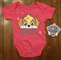 NWT Nickelodeon Baby Girl Paw Patrol Short Sleeve Bodysuit - SIZE 0-3 MONTHS