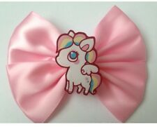 Pastel Pink Pony Hair Bow fairy kei kawaii sweet lolita Rainbow