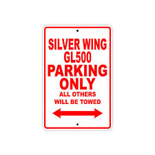 HONDA SILVER WING GL500 Parking Only Towed Motorcycle Bike Chopper Aluminum Sign