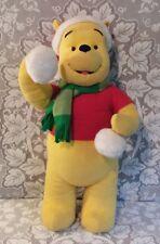 "Gemmy Disney 27"" Winnie the Pooh Plush Door Porch Greeter Decor Christmas Winter"