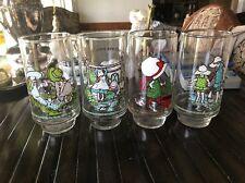 Holly Hobbie Coca Cola Glasses Lot of 4 Vintage Including Christmas Glass!
