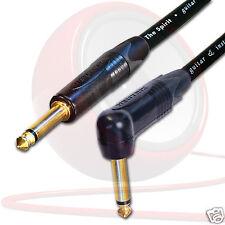 Gold Neutrik Guitar Jack to Jack Lead. Long Spirit SC Cable. 1m 2m 5m Electric