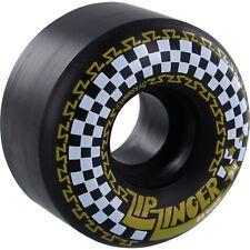 "KROOKED ""Zip Zinger"" Skateboard Wheels 54mm BLACK 80a Cruise Filmer Transport"