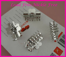 6pcs silver finish 5.0cm metal hair claws at lead free&nickle free jaw clips big