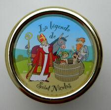 Boite à musique Saint Nicolas à remontoir forme presse papier