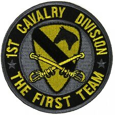 1st CAVALRY DIVISION - THE FIRST TEAM - IRON or SEW-ON PATCH