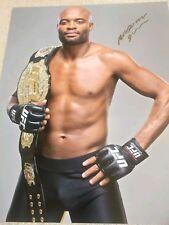 ANDERSON SILVA signed 16x20 photo UFC MMA GLOVE POSTER AUTO Conor Pride Spider