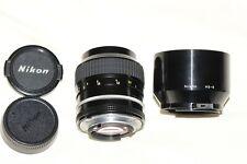 Nikon 105mm f2.5 AI Prime Lens + HS-8 Hood     Excellent++ Condition