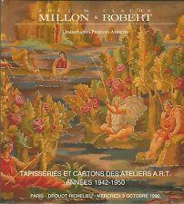 MILLON PARIS TAPESTRIES ART WORKSHOP Beaumont Dufau Guillonet Vera Catalog 1990
