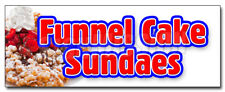 Funnel Cake Sundae Decal Sticker Hot Warm Delicious Sweet Food
