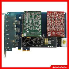 FXS FXO Card with 4 FXS+4 FXO Ports+EC HW,Support Freepbx issabel Asterisk Dahdi