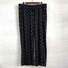 Lane Bryant 14 16 Black White Polka Dot Elastic Waist Casual Lounge Pajama Pants