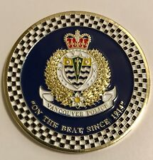 Vancouver Police Pipe Band Challenge Coin Canada