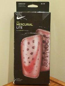 Nike Mercurial Lite SUPERLOCK Competitive Shin Guards w/ Sock Sleeves - M Medium