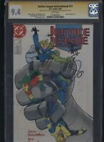 Justice League #11 CGC 9.4 3x SS Giffen & DeMatteis & Maguire 1988
