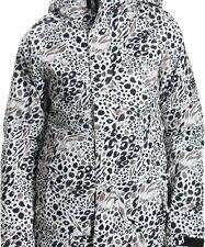 686 Women Smarty Catwalk Snowboard Jacket (S) Grey Animal Print