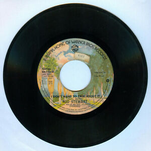 Philippines ROD STEWART I Don't Want To Talk About It 45 rpm Record