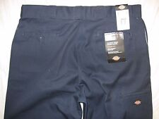 Dickies Mens Loose Fit Double Knee Work Pants Navy Blue, Actual size 39 X 31 1/2