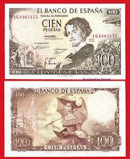 SPAIN 100 Pesetas 1965 BECQUER Pick 150 SC / UNC