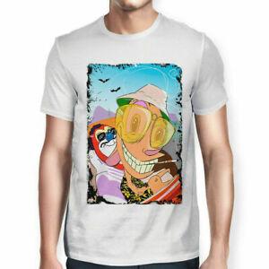 Ren & Stimpy Friend Fear And Loathing In Las Vegas Parody White T-shirt S-6XL
