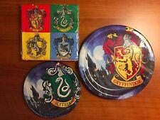 Harry Potter Party Kit: 16 Napkins/8 Gryffindor Lunch/8 Slytherin Dessert Plates