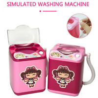 Mini Electric Washing Machine Child Kids Play Toy Makeup Brushes Cleaner Washer