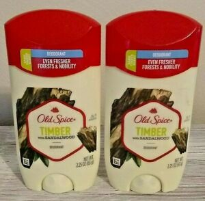 Old Spice 2 Pack Deodorant Timber with Sandalwood Aluminum Free 48 Hour
