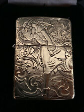 RARE Zippo 1935 Varga Girl Armor Brass Zippo lighter